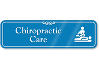 Chiropractic Care Hospital Showcase Sign