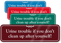 Clean-Up After Yourself Humorous Bathroom Wall Sign