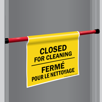 Closed For Cleaning Door Barricade Sign