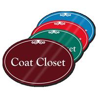Coat Closet ShowCase Sign