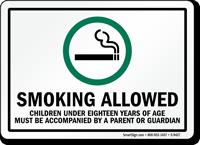 Smoking Allowed Sign