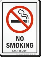 Colorado No Smoking Sign
