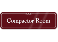 Compactor Room Showcase Wall Sign