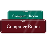 Computer Room ShowCase Wall Sign