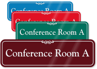 Conference Room A ShowCase Wall Sign