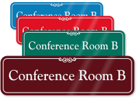Conference Room B ShowCase Wall Sign