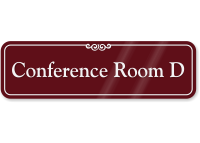 Conference Room D ShowCase Wall Sign