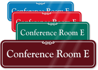 Conference Room E ShowCase Wall Sign
