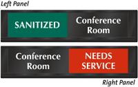 Conference Room Sanitized Needs Service Slider Sign