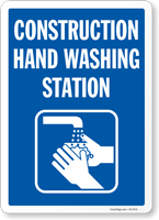 Construction Hand Washing Station Sign