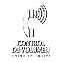 Control de Volumen Spanish TactileTouch Braille Sign