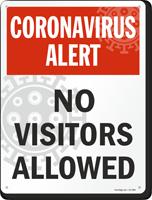 Coronavirus Alert Sign