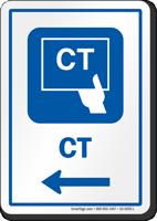 CT Left Arrow Hospital Sign
