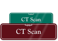 CT Scan ShowCase Wall Sign