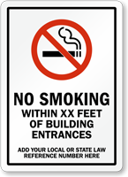 Custom No Smoking Sign