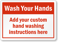 Custom Wash Your Hands Sign