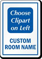 Custom Room Sign, Choose Clipart