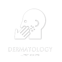 Dermatology TactileTouch Braille Sign with Skin Disease Symbol
