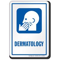 Dermatology Hospital Sign with Skin Disease Symbol