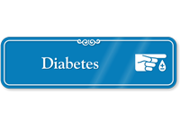 Diabetes Hospital Showcase Sign