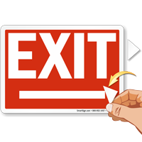 Directional Arrowheads Exit Sign