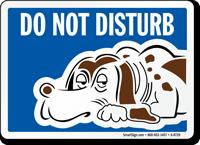 Do Not Disturb Sign - Dog Sleeping Symbol