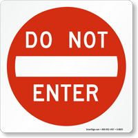Do Not Enter Magnetic Door Sign