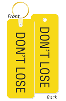 Do Not Lose Double Sided Keychain