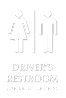 Driver's Restroom Tactile Touch Braille Sign