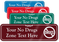 Drug Free Zone Symbol Sign