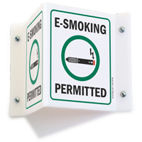 E-Smoking Permitted Projecting Sign with Symbol