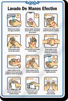 ShowCase Effective Hand Washing Wall Sign in Spanish