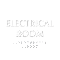 Electrical Room Tactile Touch Braille Door Sign