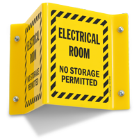 Electrical Room No Storage Projecting Sign