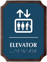 Elevator Braille TactileTouch Wooden Plaque