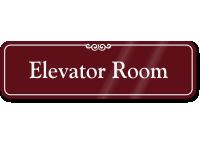 Elevator Room ShowCase Wall Sign