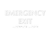 Emergency Exit Tactile Touch Braille Door Sign