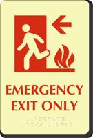 Emergency Exit Only Door Sign