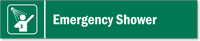 Emergency Shower Modular Magnetic Door Sign