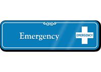 Emergency First-Aid Showcase Hospital Sign