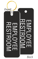 Employee Restroom Double Sided Keychain