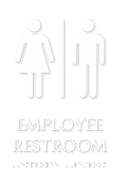 Employee Restroom Tactile Touch Sign