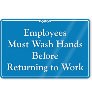 Employees Must Wash Hands ShowCase Wall Sign