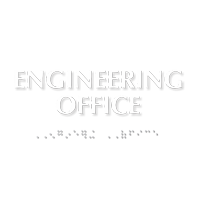 Engineering Office ADA TactileTouch™ Sign with Braille