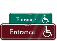 Handicap Entrance Sign