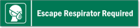 Escape Respirator Required Stacking Magnetic Door Sign
