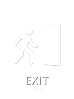 Exit, with Braille Sign