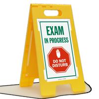 Exam In Progress Do Not Disturb Floor Sign