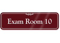 Exam Room 10 ShowCase Wall Sign