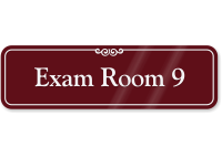 Exam Room 9 ShowCase Wall Sign